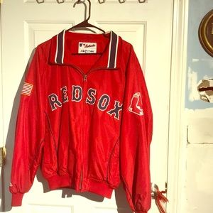Authentic Majestic Red Sox Warm Up Jacket